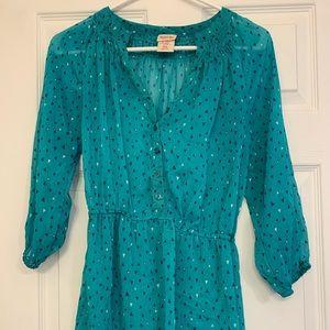 Turquoise Printed Tunic